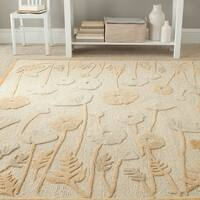 Martha Stewart by Safavieh Poppy Glossary Nutshell/ Brown Wool/ Viscose Rug - 8' x 10'