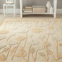Martha Stewart by Safavieh Poppy Glossary Nutshell/ Brown Wool/ Viscose Rug - 9' x 12'