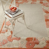 Martha Stewart by Safavieh Poppy Border Cayenne Red Wool/ Viscose Rug - 8' x 10'