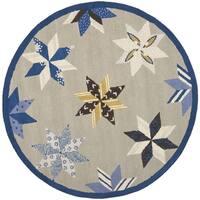 Martha Stewart by Safavieh Lemoyne Star Azurite Blue Wool Rug - 6' Round