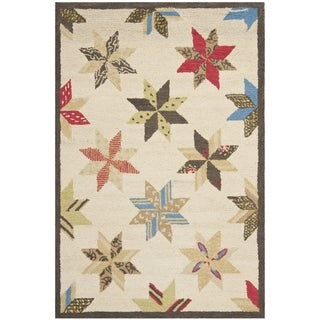Martha Stewart Lemoyne Star Bone Foler Wheat Wool Rug (2' 6 x 4' 3)