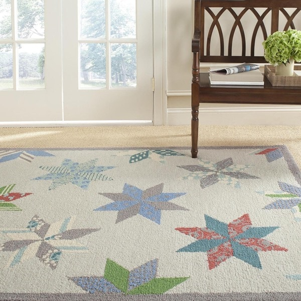 Martha Stewart by Safavieh Lemoyne Star Pewter Grey Wool Rug - 9' 6 x 13' 6