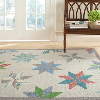 Martha Stewart Lemoyne Star Pewter Grey Wool Rug (9' x 12')