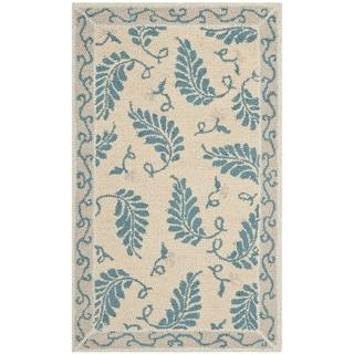 Martha Stewart Fern Frolic Plumage Blue Wool Rug (2' 6 x 4' 3)