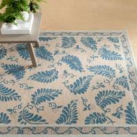 Martha Stewart by Safavieh Fern Frolic Plumage Blue Wool Rug - 8' x 10'