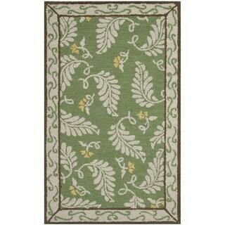 Martha Stewart Fern Frolic China Green Wool Rug (2' 6 x 4' 3)