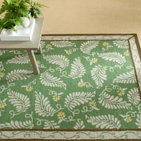 Martha Stewart by Safavieh Fern Frolic China Green Wool Rug - 4' x 6'