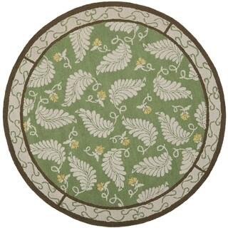 Martha Stewart Fern Frolic China Green Wool Rug (6' x 6' Round)