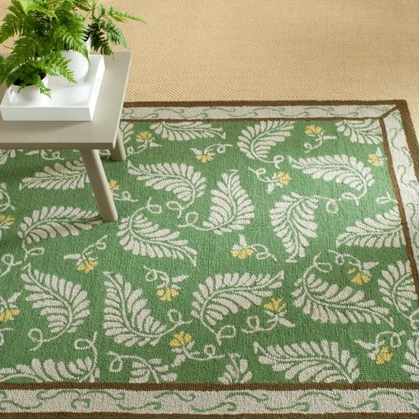 Martha Stewart by Safavieh Fern Frolic China Green Wool Rug - 8' x 10'