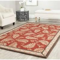 Martha Stewart by Safavieh Fern Frolic Saffron Red Wool Rug - 9' 6 x 13' 6