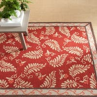 Martha Stewart by Safavieh Fern Frolic Saffron Red Wool Rug - 4' x 6'