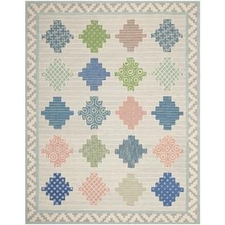 Martha Stewart by Safavieh Patchwork Pewter Grey Wool Rug (9' 6 x 13' 6)