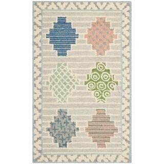 Martha Stewart Patchwork Pewter Grey Wool Rug (2' 6 x 4' 3)