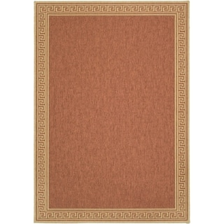 Martha Stewart by Safavieh Byzantium Terracotta/ Beige Indoor/ Outdoor Rug (5' 3 x 7' 7)