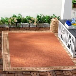 Martha Stewart by Safavieh Byzantium Terracotta/ Beige Indoor/ Outdoor Rug - 5'3 x 7'7