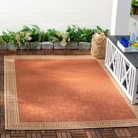 Martha Stewart by Safavieh Byzantium Terracotta/ Beige Indoor/ Outdoor Rug - 6' 7 x 9' 6