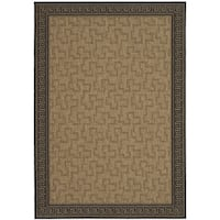Martha Stewart by Safavieh Byzantium Dark Beige/ Black Indoor/ Outdoor Rug - 6' 7 x 9' 6