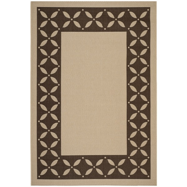 Martha Stewart By Safavieh Mallorca Border Cream/ Chocolate Indoor/ Outdoor  Rug (8u0027