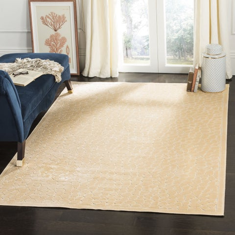 Martha Stewart by Safavieh Reptilian Cream Viscose Rug - 2'7 x 4'