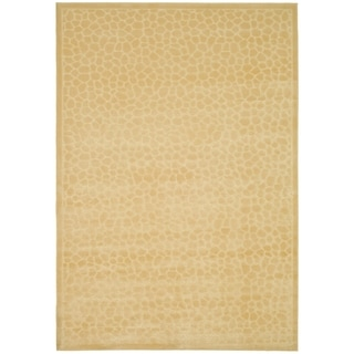 Martha Stewart by Safavieh Reptilian Cream Viscose Rug (4' x 5' 7)