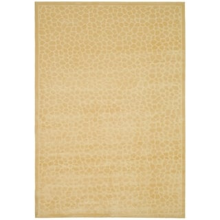 Martha Stewart by Safavieh Reptilian Cream Viscose Rug (5' 3 x 7' 6)