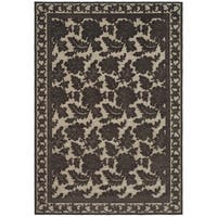 Martha Stewart by Safavieh Peony Damask Light Brown Viscose Rug - 5'3 x 7'6