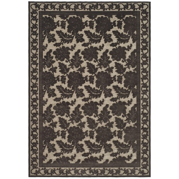 Martha Stewart by Safavieh Peony Damask Light Brown Viscose Rug - 8' x 11'2