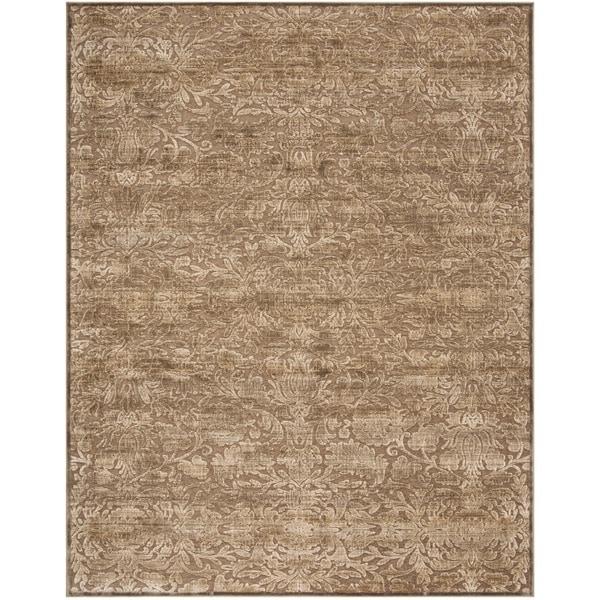Martha Stewart by Safavieh Heritage Bloom Soft Anthracite/ Camel Viscose Rug - 8' x 11'2