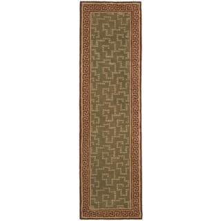 Martha Stewart Byzantium Sealing Wax Wool Rug (2' 3 x 8')