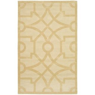 Martha Stewart Fretwork Gravel Wool Rug (9' x 12')