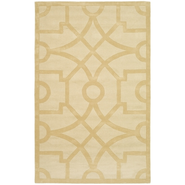 Martha Stewart by Safavieh Fretwork Gravel Wool Rug - 9' x 12'
