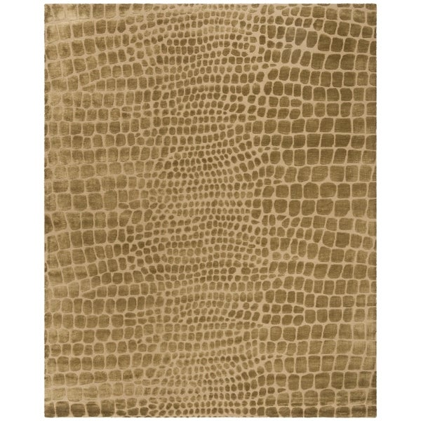 Martha Stewart by Safavieh Amazonia River/ Bank Silk Blend Rug (7' 9 x 9' 9) - 7'9 x 9'9