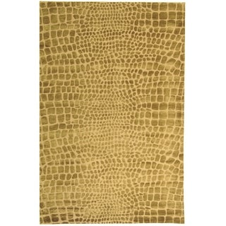 Martha Stewart Amazonia River/ Bank Silk Blend Rug (8' 6 x 11' 6)