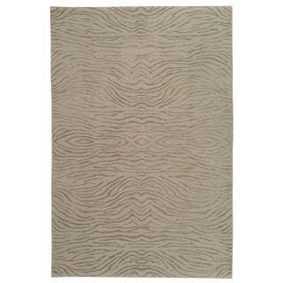 Martha Stewart Journey Stone Silk/ Wool Rug (3' 9 x 5' 9)