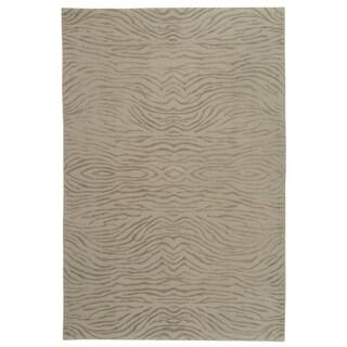 Martha Stewart Journey Stone Silk/ Wool Rug (7' 9 x 9' 9)