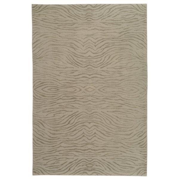Martha Stewart by Safavieh Journey Stone Silk/ Wool Rug - 8'6 x 11'6