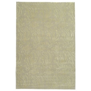 Martha Stewart by Safavieh Seaflora Shell Silk/ Wool Rug (5' 6 x 8' 6)