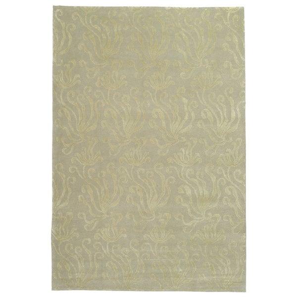 Martha Stewart by Safavieh Seaflora Shell Silk/ Wool Rug - 7' 9 x 9' 9
