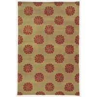 Martha Stewart by Safavieh Medallions Garnet Silk/ Wool Rug - 8'6 x 11'6