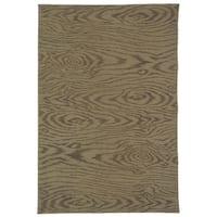 """Martha Stewart by Safavieh Faux Bois Truffle Silk/ Wool Rug - 3'9"""" x 5'9"""""""