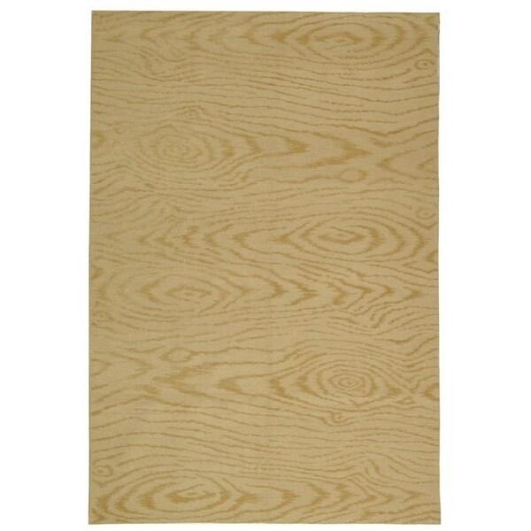 Martha Stewart by Safavieh Faux Bois Pinenut Silk/ Wool Rug - 9'6 x 13'6