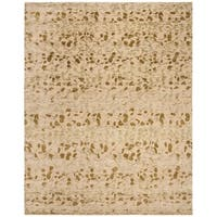 Martha Stewart by Safavieh Abstract Trellis Sprout Green Silk/ Wool Rug - 8' x 10'
