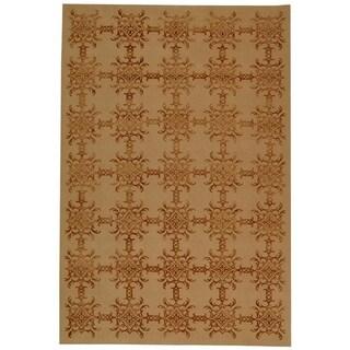 Martha Stewart by Safavieh Tracery Rose/ Wood Silk/ Wool Rug (9' 6 x 13' 6)