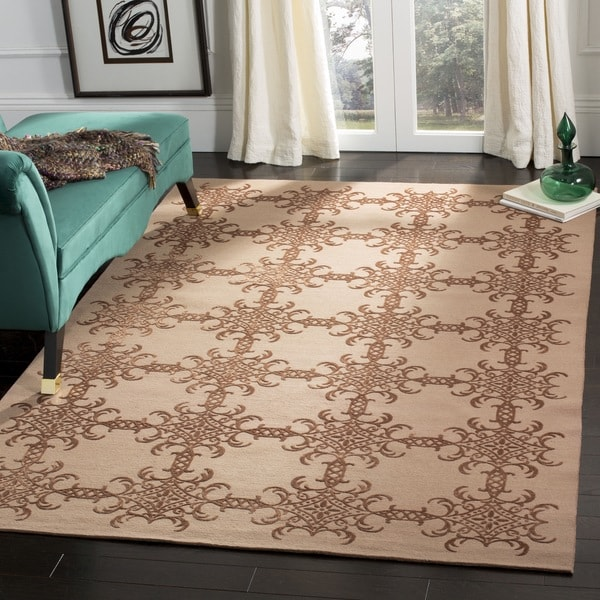 Martha Stewart by Safavieh Tracery Rose/ Wood Silk/ Wool Rug - 9' 6 x 13' 6