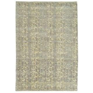 Martha Stewart Tendrils Midnight Wool Rug (6' x 9')