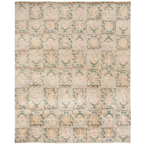 Martha Stewart by Safavieh Reflection Water Silk/ Wool Rug - 8' x 10'