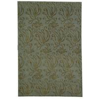 Martha Stewart by Safavieh Seaflora Sea Glass Silk/ Wool Rug - 3'9 x 5'9