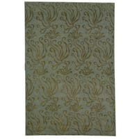 Martha Stewart by Safavieh Seaflora Sea Glass Silk/ Wool Rug - 5'6 x 8'6