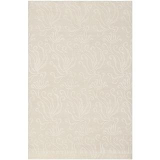 Martha Stewart Seaflora Pearl Silk/ Wool Rug (5' 6 x 8' 6)