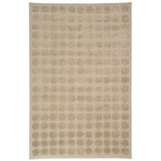 Martha Stewart by Safavieh Constellation Day/ Break Silk/ Wool Rug (3' 9 x 5' 9)